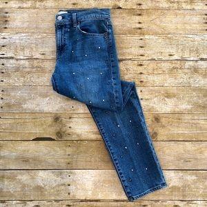 GAP Best Girlfriend Ankle Studded Jeans